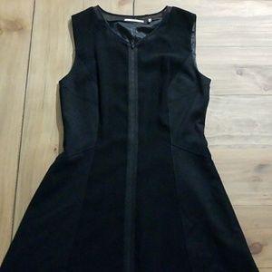 Tahari black zipper dress
